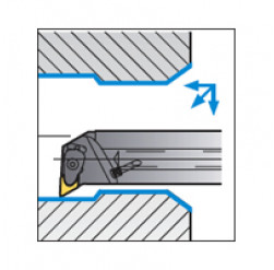 Skärhållare invändigbearbetning för DNMG