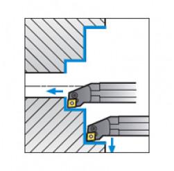 Skärhållare invändigbearbetning för CNMG